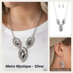 Metro Mystique Silver Necklace